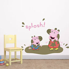 Peppa Pig and George splosh wall sticker | Official Peppa Pig wall stickers