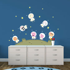 Peppa Pig and Friends on the moon wall stickers | Official Peppa Pig stickers