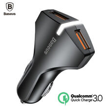 Baseus Quick Charge Qualcomm 3.0 Dual Port In Car Charger 3A USB Travel Charging