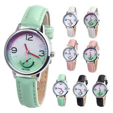CANDY COLOR FAUX LEATHER STRAP ANALOG WOMEN QUARTZ WRIST WATCH JEWELRY FADDISH