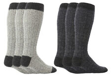 8e13fb4ea Workforce - Mens Extra Long Tall Navy or Grey Wool Warm Knitted Work Boot  Socks
