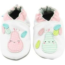 Robeez Pear Summer Bianco In Pelle Bambino Soft Soles