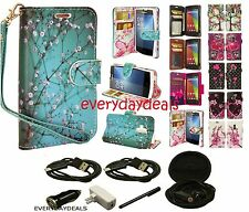 Flip Pouch Wallet Stand Case Credit Card PU Leather Cover for LG Phone + EXTRA
