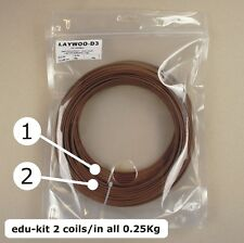 Laywood Laywoo-D3 Holz wood filament, das Original, edu-kit 0.25 kg, 1.75/3 mm.