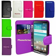 *Book Wallet Flip Leather Card Stand Case Cover For Various LG Mobile Phones