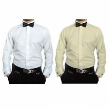 MATRIMONIO CAMICIA PER SMOKING Uomo + PAPILLON COLLETTO slim fit