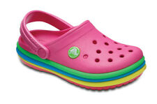 SANDALES ENFANTS SNEAKERS CROCS RAINBOW BAND CLOG KIDS [205205 PARADISE PINK]