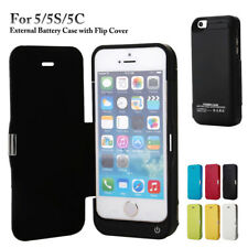 4200mAh External Battery Case with Flip Charger Cover Power Bank for 5/5S/5C/SE