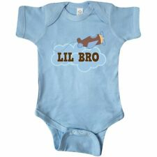 Inktastic Lil Bro Airplane Pilot Infant Bodysuit Brother Childs Boys Family Cute
