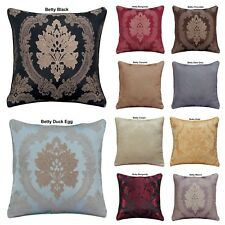 "LUXURY ROYAL JACQUARD FLORAL FLOWER CUSHION COVERS OR FILLED 18"" x 18""  FREE P&P"