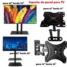 "SOPORTE DE PARED PARA TV LCD LED PLASMA MONITOR GIRATORIO 14"" A 55"" INCLINA 15º"