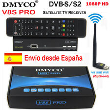 FTA HD V8S PRO DVB-S2 Satellite TV Receiver Decoder Support WIFI Antenna Powervu