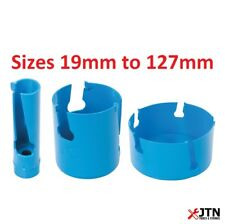 Silverline Multi Material Tungsten Carbide Teeth TCT Hole Saw Sizes 19mm - 127mm