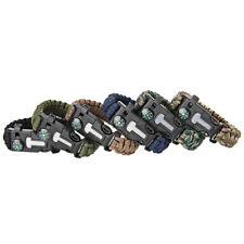 Inlife Outdoor Survival Parachute Cord Bracelet with FireStarter Whistle Compass
