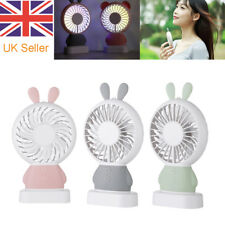 Mini Rabbit Fan USB Handheld Fans Rechargeable Cooling Tool for Sunmer
