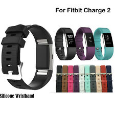 1pc Silicone Rubber Band Strap Wristband Bracelet f. Fitbit Charge 2 Replacement