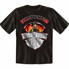"Camiseta BOMBERO"" Lives To Fight Fires "", Talla S-XXL , bomberos, FIRE FIGHTER"
