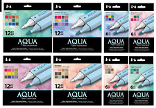 SPECTRUM NOIR Water Based AQUA MARKERS 6/12pks by Crafters Companion