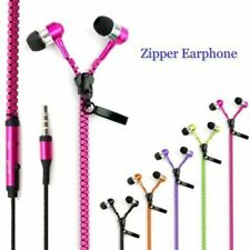 Universal Stereo 3.5mm in-Ear Earphone Earbuds Headphone + Mic Zipper Headset VL