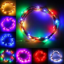 3M 30LED Copper Wire Xmas Party String Fairy Light Battery Operated Wedding QV