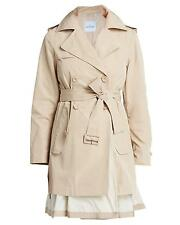 Moncler Women's Adeline Double Breasted Belted Trench Coat, Stone