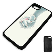 DUMBO ELEPHANT MOM'S TRUNK PROTECTIVE PHONE CASE COVER fits Iphone BLACK