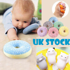 UK Rainbow Squishy Squeeze Stress Reliever Doughnut Scented Slow Rising Toys