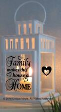 Vinyl Sticker For IKEA Lantern - Family makes this House a Home Sticker DIY gift