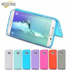 Flip Mobile Cover Samsung Galaxy S6 Full Body Shell TPU Transparent Phone Case