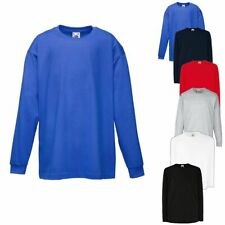 Fruit of the Loom Kids Long Sleeve Valueweight T Kinder Langarm T-Shirt 104-164