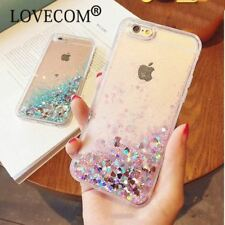 Heart Stars Case Phone Back Cover Dynamic Liquid Quicksand TPU For iPhone 5 6 7