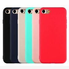 Candy Color Soft TPU Silicon Phone Cases Apple iPhone 5 5S SE 6 6S 7 Plus
