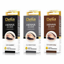 DELIA HENNA COLOR CREAM EYEBROW PROFESSIONAL TINT KIT SET With ARGAN OIL