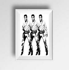 Elvis Presley Poster Art Print A4 A3 Pop Art modern wall art prints