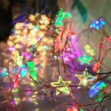 Christmas Home Decor Light String 30 Led Fairy Star String Lights Copper Wire