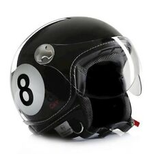 CASCO PER MOTO CASCO JET CASCO CHOPPER CAFE RACER CMX 8ball Nero S,M,L,XL