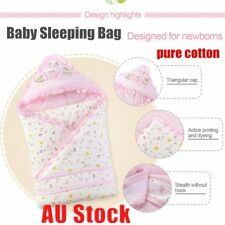 Baby Sleeping Bag Pure Cotton Printed Baby Blanket for 0-5 Months Durable G@