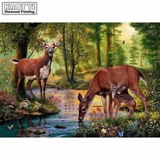 DIY Diamond Painting Cross Stitch Embroidery Deer Home Decor Decoration Gift