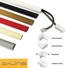 D-LINE ADHESIVE TRUNKING FOR TV CABLE WIRE COVER PVC PLASTIC DLINE & BEND JOINT