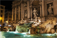 Poster Trevi Fountain at nighttime, Rome, Italy - Reynold Mainse