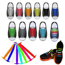 16PCS Lazy Elastic Silicone Shoelaces No Tie Easy Sneakers Running Shoe Lace Hot