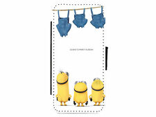 Minions Washing line Leather Flip Phone Case Cover for iPhone & Samsung D2