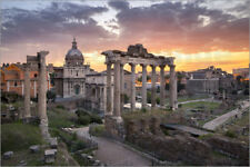 Poster Dramatic sunrise at the Roman Forum in Rome, Italy - J. Becke