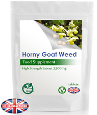 Horny Goat Weed High Strength 3500mg Tablets, Enhance Libido/Erection, Vegan, UK
