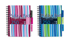 Pukka Pad Project Book A5 250 Pages Feint Ruled Wire-bound Notebook