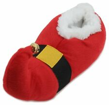 Slumberzzz Adults Unisex Plush 3D Novelty Christmas Santa Slippers Red