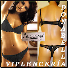 ACOUSMA SET NEGRO BRA + TANGA Tallas/Sizes: 85C/ 90C/95C + REGALO/GIFT*