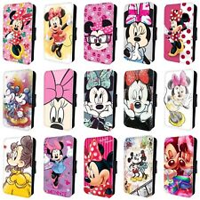 MINNIE MOUSE MICKEY MOUSE DISNEY FLIP PHONE CASE COVER for iPHONE 4 5 6 7 8 x
