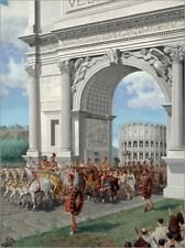 Poster Romans with captives in Rome - H. M. Herget
