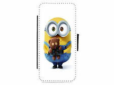 MINIONS Teddy Leather Flip Phone Case Cover for iPhone & Samsung D11